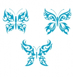 butterfly tattoo vector image