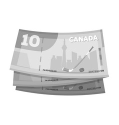 canadian dollar canada single icon in monochrome vector image