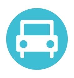 Car auto vehicle silhouette icon vector