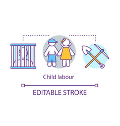 Child labour concept icon trafficking and vector