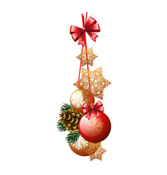 christmas decoration in the form of a bundle red vector image