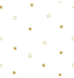 christmas stars seamless pattern stars on white vector image