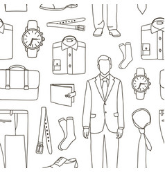 classical businessman clothes pattern vector image