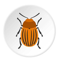 Colorado beetle icon circle vector
