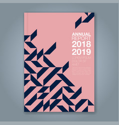 cover annual report 862 vector image