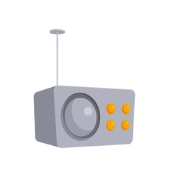 Crey retro style radio receiver icon cartoon style vector