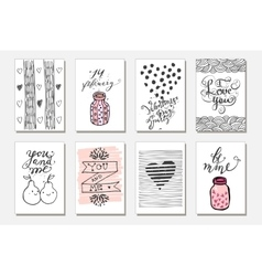 Cute gift tags Love vector image