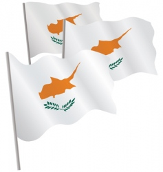 Cyprus 3d flag vector image
