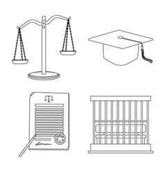 Design of law and lawyer logo collection vector