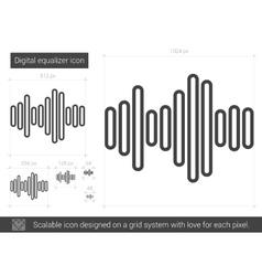 Digital equalizer line icon vector