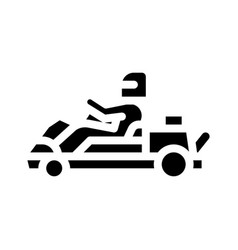 Driver driving kart icon glyph vector