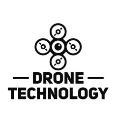 Drone site logo simple style vector