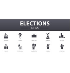 Elections simple concept icons set contains such vector