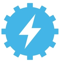 Electric Energy Gear Eps Icon vector