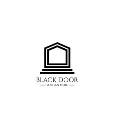 entrance door logo for home or real estate letter vector image