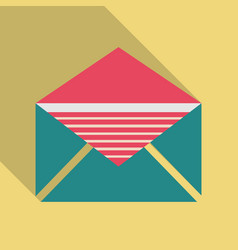 Envelope opened isolated on a background vector