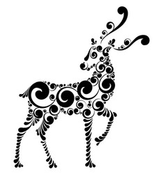 Fabulous christmas deer vector