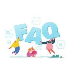 Faq service concept people asking questions vector