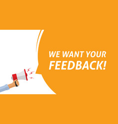 feedback or testimonial opinion message or vector image