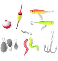 Fishing tackle vector image