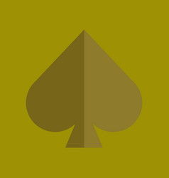 Flat icon on background poker game spades vector