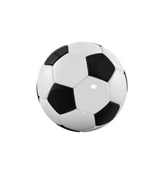 Football bal realistic soccer ball on white vector