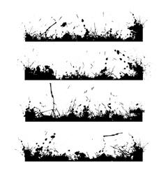Four black frames splash vector