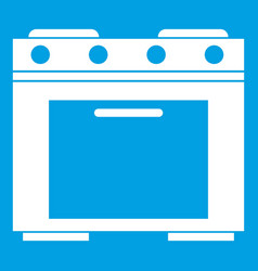Gas stove icon white vector