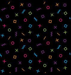 geometric pattern with colorful elements on vector image