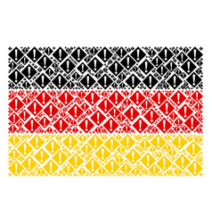 Germany flag pattern of warning icons vector