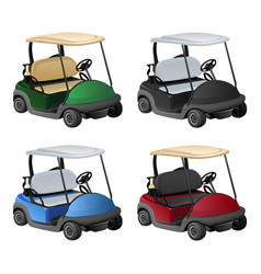 golf car 4 color vector image