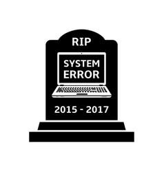 Gravestone for laptop vector
