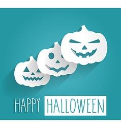 Happy Halloween blue poster vector