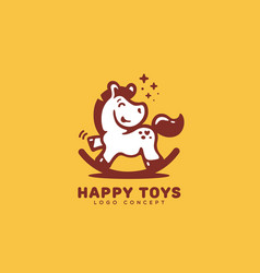 happy toys logo vector image