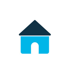 house icon colored symbol premium quality vector image