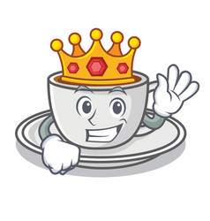 king coffee character cartoon style vector image