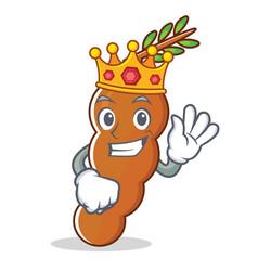 King tamarind mascot cartoon style vector
