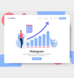 landing page template histogram concept vector image