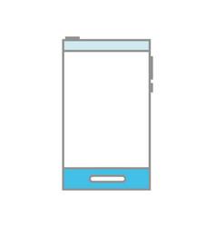 line color communication smartphone technology vector image