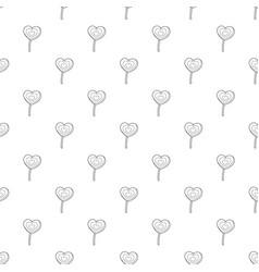 lollipop heart pattern seamless vector image