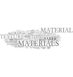 Materials word cloud concept vector