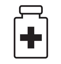 Medical bottle flat icon medical bottle sign vector