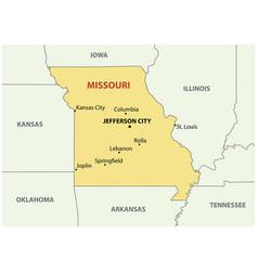 Missouri - map vector