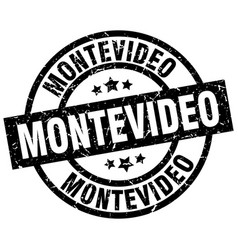 Montevideo black round grunge stamp vector