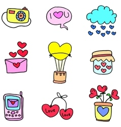 Object with love doodles vector