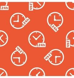Orange 24h workhours pattern vector