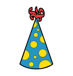 party hat decorative icon vector image
