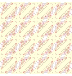 Pattern with graphic geometrical forms vector image