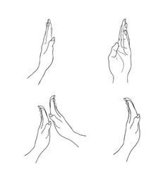 Person open a hand in the air vector