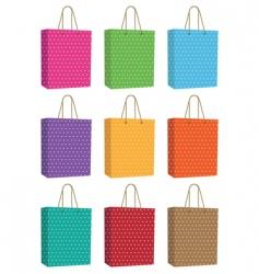 Polka dot bags vector